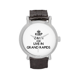 Keep Calm and live in Grand Rapids Wristwatch