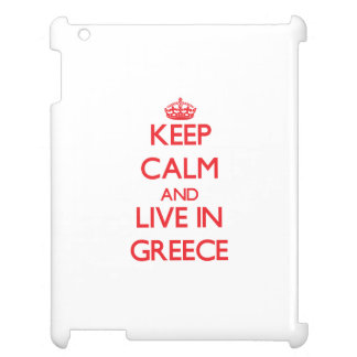 Keep Calm and live in Greece iPad Cover