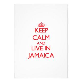 Keep Calm and live in Jamaica Custom Invitation