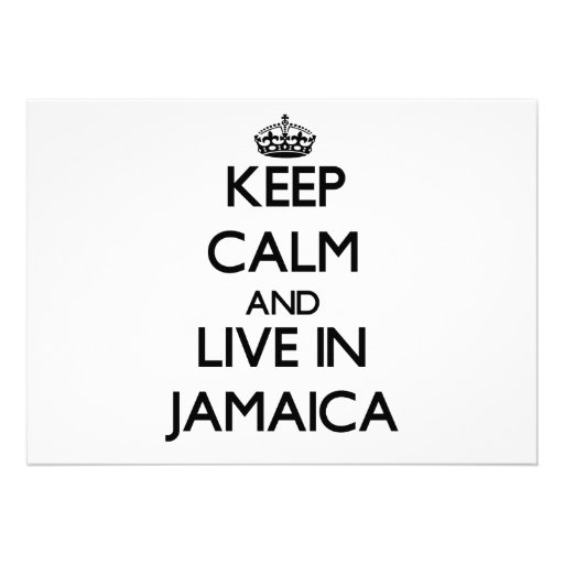 Keep Calm and Live In Jamaica Invite
