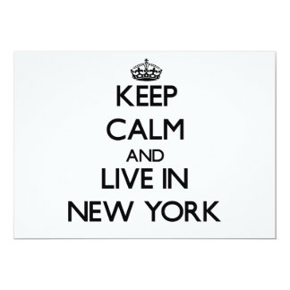 Keep Calm and Live In New York Custom Invites