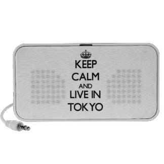 Keep Calm and live in Tokyo Laptop Speakers