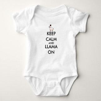 Keep Calm and Llama On Baby Bodysuit
