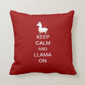 Keep Calm and Llama On Pillow