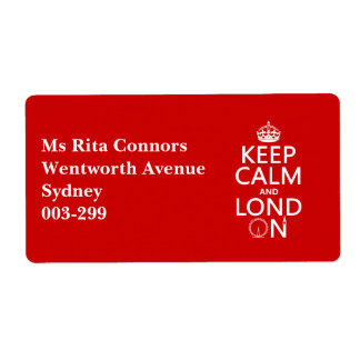 Keep Calm and Lond On (London)