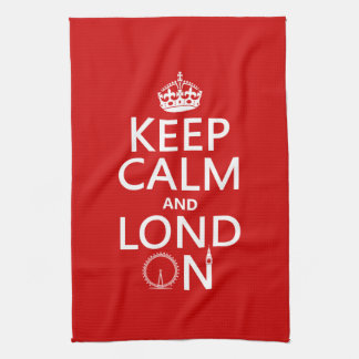 Keep Calm and Lond On (London) Tea Towel