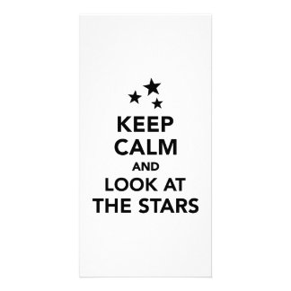 Keep calm and look at the stars photo card