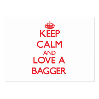 Keep Calm and Love a Bagger Pack Of Chubby Business Cards