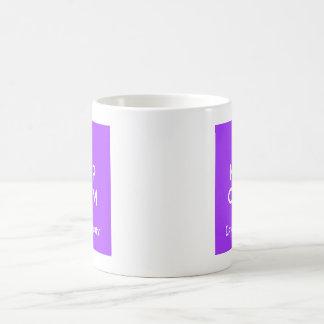 Keep calm and love a brony - purple coffee mug