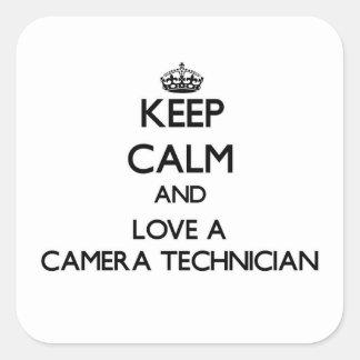 Keep Calm and Love a Camera Technician Sticker