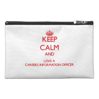 Keep Calm and Love a Careers Information Officer Travel Accessories Bag
