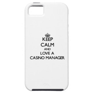 Keep Calm and Love a Casino Manager iPhone 5 Covers