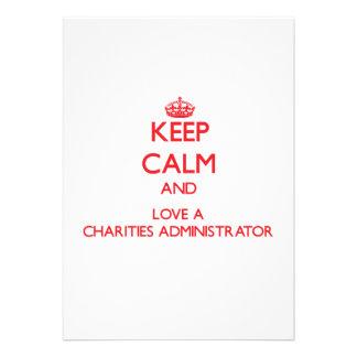Keep Calm and Love a Charities Administrator Custom Invites