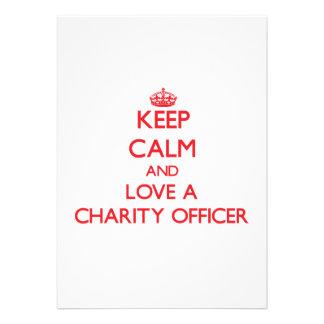 Keep Calm and Love a Charity Officer Custom Invites
