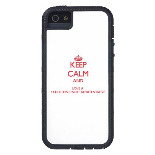 Keep Calm and Love a Children's Resort Representat iPhone 5/5S Case