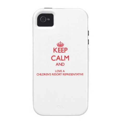 Keep Calm and Love a Children's Resort Representat Vibe iPhone 4 Covers