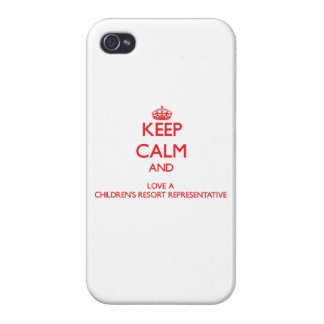 Keep Calm and Love a Children's Resort Representat Covers For iPhone 4