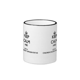 Keep Calm and Love a Children's Resort Representat Ringer Mug
