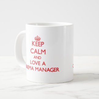 Keep Calm and Love a Cinema Manager Extra Large Mugs