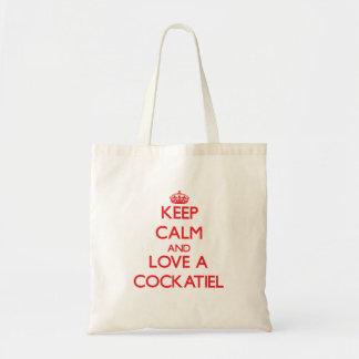Keep calm and Love a Cockatiel Tote Bag