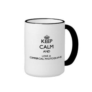 Keep Calm and Love a Commercial Photographer Ringer Mug
