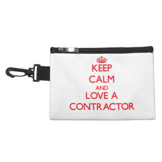 Keep Calm and Love a Contractor Accessories Bags