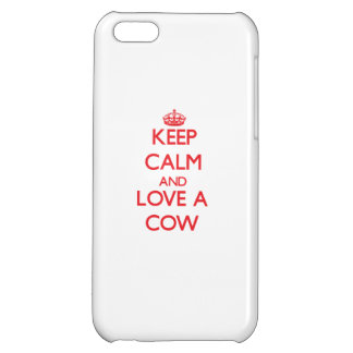 Keep calm and Love a Cow iPhone 5C Cover