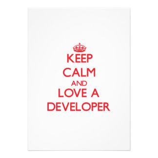 Keep Calm and Love a Developer Invites