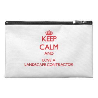 Keep Calm and Love a Landscape Contractor Travel Accessories Bag