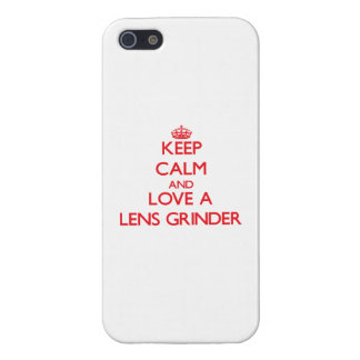 Keep Calm and Love a Lens Grinder Case For iPhone 5
