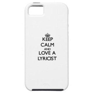 Keep Calm and Love a Lyricist iPhone 5 Cover