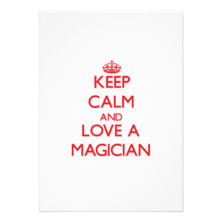 Keep Calm and Love a Magician Personalized Invite