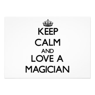 Keep Calm and Love a Magician Custom Invite
