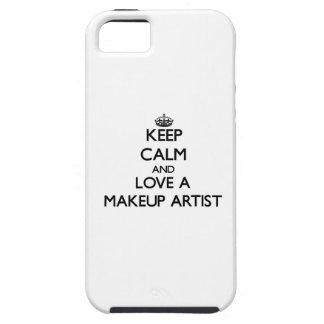 Keep Calm and Love a Makeup Artist iPhone 5 Case