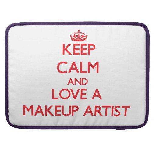 Keep Calm and Love a Makeup Artist MacBook Pro Sleeve