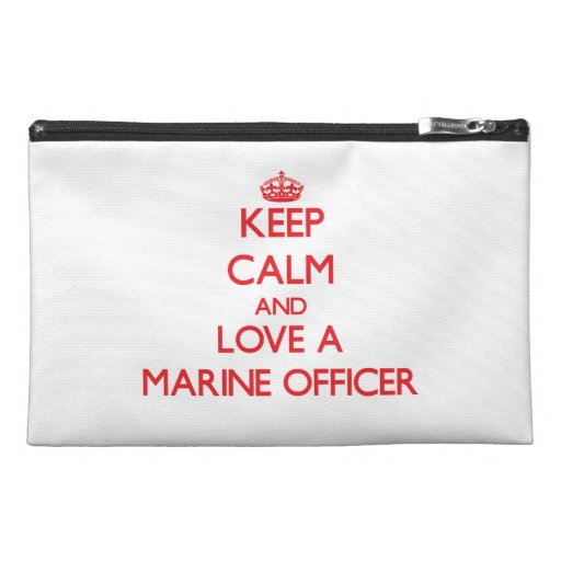 Keep Calm and Love a Marine Officer Travel Accessories Bag
