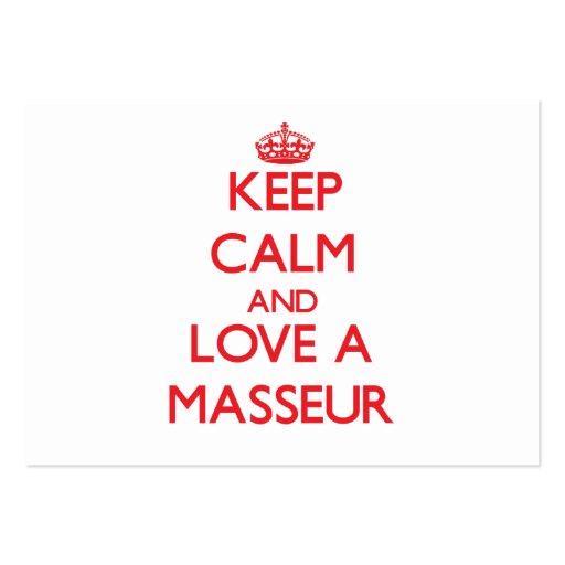 Keep Calm and Love a Masseur Business Card Template