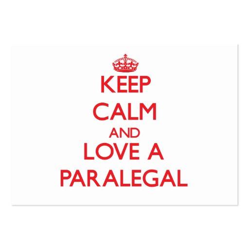 Keep Calm and Love a Paralegal Business Card