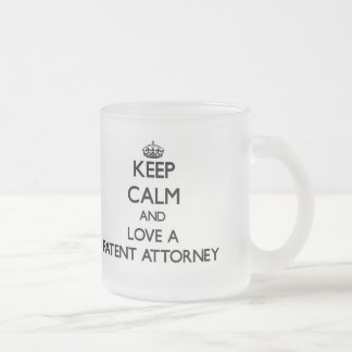 Keep Calm and Love a Patent Attorney Frosted Glass Mug