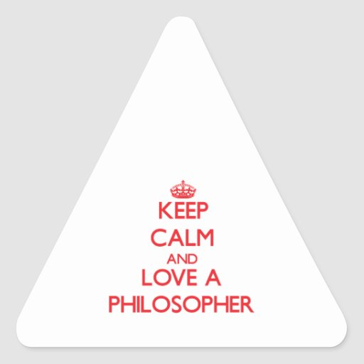 Keep Calm and Love a Philosopher Stickers