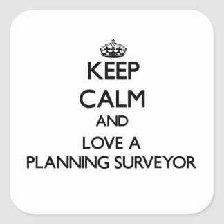 Keep Calm and Love a Planning Surveyor Square Sticker