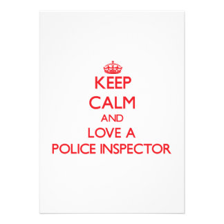 Keep Calm and Love a Police Inspector Invite