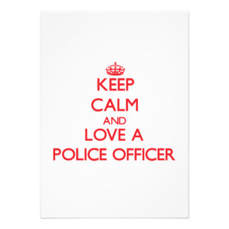 Keep Calm and Love a Police Officer Cards