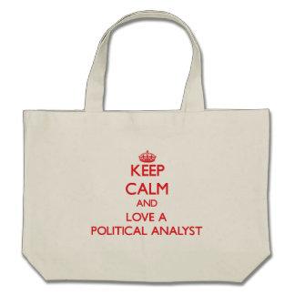 Keep Calm and Love a Political Analyst Canvas Bag