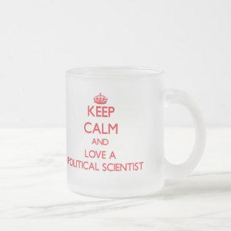 Keep Calm and Love a Political Scientist Coffee Mugs