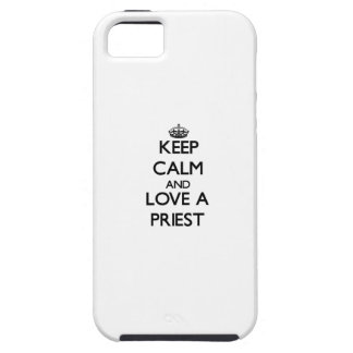 Keep Calm and Love a Priest Tough iPhone 5 Case