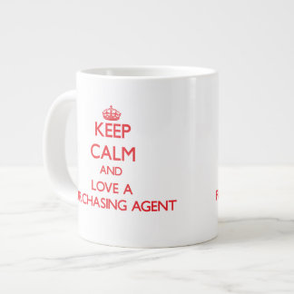Keep Calm and Love a Purchasing Agent Extra Large Mug