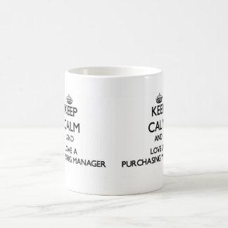 Keep Calm and Love a Purchasing Manager Basic White Mug