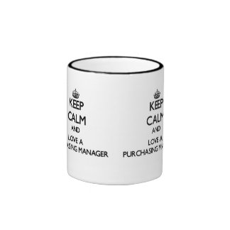 Keep Calm and Love a Purchasing Manager Ringer Coffee Mug