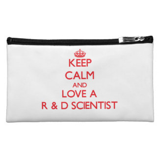 Keep Calm and Love a R & D Scientist Cosmetic Bag